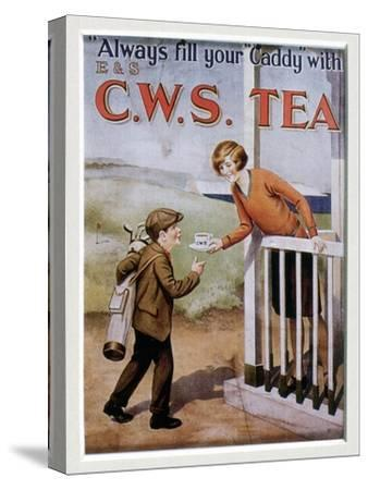 CWS Tea advertising card, 1920s-Unknown-Stretched Canvas Print