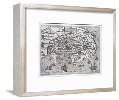 Map of Alexandria, Egypt, c1625-Unknown-Framed Giclee Print
