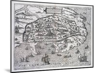 Map of Alexandria, Egypt, c1625-Unknown-Mounted Giclee Print