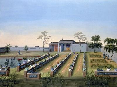 Nursery garden, China, c1820-1840-Unknown-Framed Giclee Print