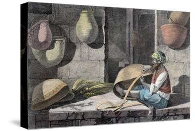 'The Basket Maker', c1798 (1822)-Unknown-Stretched Canvas Print