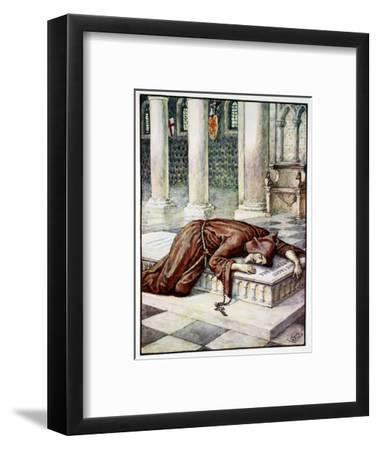'The Death of Sir Lancelot', 1911-Unknown-Framed Giclee Print