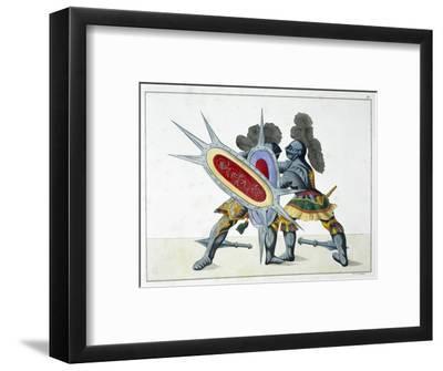 Two knights fighting on foot, 1842-Friedrich Martin von Reibisch-Framed Giclee Print