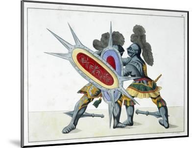 Two knights fighting on foot, 1842-Friedrich Martin von Reibisch-Mounted Giclee Print