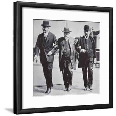 Three American businessmen, 1900s-Unknown-Framed Photographic Print