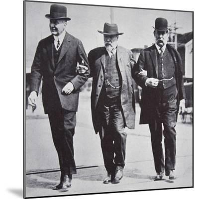 Three American businessmen, 1900s-Unknown-Mounted Photographic Print