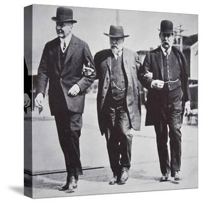Three American businessmen, 1900s-Unknown-Stretched Canvas Print