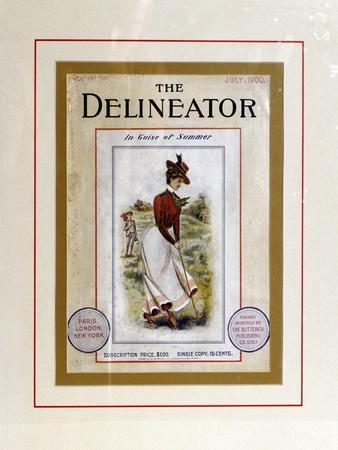 Cover of The Delineator, July 1900-Unknown-Framed Giclee Print