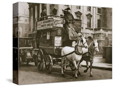 London omnibus, early 20th century-Unknown-Stretched Canvas Print
