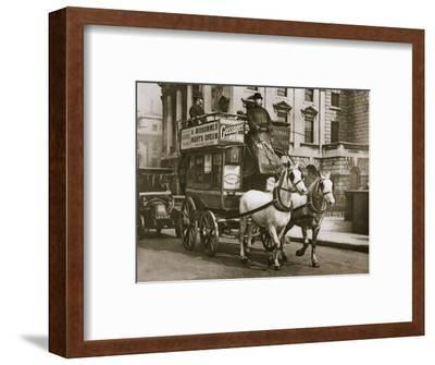 London omnibus, early 20th century-Unknown-Framed Photographic Print