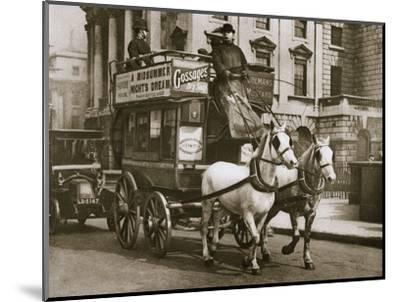 London omnibus, early 20th century-Unknown-Mounted Photographic Print
