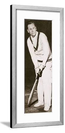 Jack Hobbs, English cricketer, 1925-Unknown-Framed Photographic Print