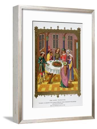 'The Jews' Passover', 15th century-Unknown-Framed Giclee Print