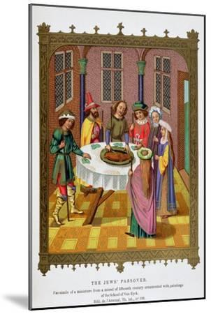 'The Jews' Passover', 15th century-Unknown-Mounted Giclee Print