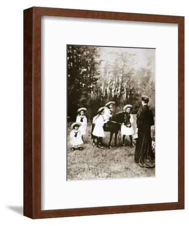 The Russian Imperial family, 1900s-Unknown-Framed Photographic Print
