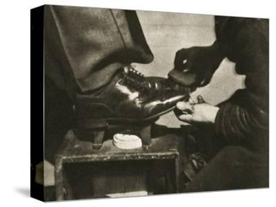 Shoeshine, New York, USA, mid 1930s-Unknown-Stretched Canvas Print