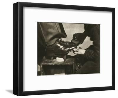 Shoeshine, New York, USA, mid 1930s-Unknown-Framed Photographic Print