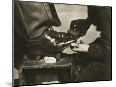 Shoeshine, New York, USA, mid 1930s-Unknown-Mounted Photographic Print