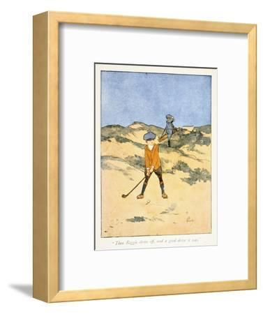 Postcard with golfing theme, c1910-Unknown-Framed Giclee Print