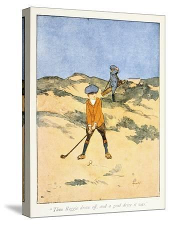 Postcard with golfing theme, c1910-Unknown-Stretched Canvas Print