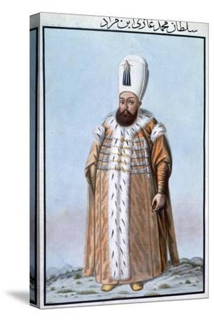 Mehmed III, Ottoman Emperor, (1808)-Unknown-Stretched Canvas Print