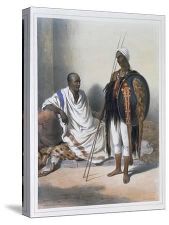 Abyssinian priest and warrior, 1848-Lemoine-Stretched Canvas Print