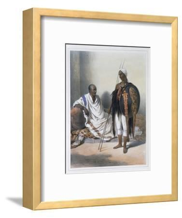 Abyssinian priest and warrior, 1848-Lemoine-Framed Giclee Print
