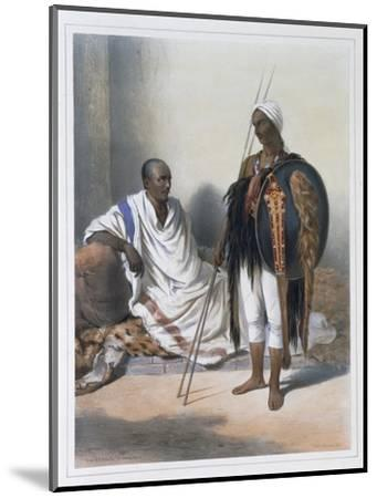 Abyssinian priest and warrior, 1848-Lemoine-Mounted Giclee Print