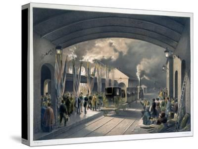 The King at New Cross Station, 1844-Unknown-Stretched Canvas Print