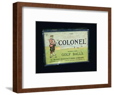 Tin of 'Colonel' golf balls, c1909-Unknown-Framed Giclee Print