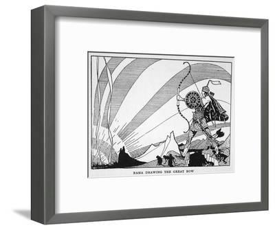 'Rama Drawing the Great Bow', 1925-Unknown-Framed Giclee Print