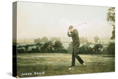 James Braid, Scottish golfer, c1910-Unknown-Stretched Canvas Print