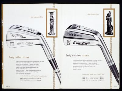Golf irons from a golfing catalogue-Unknown-Framed Giclee Print