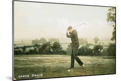 James Braid, Scottish golfer, c1910-Unknown-Mounted Giclee Print