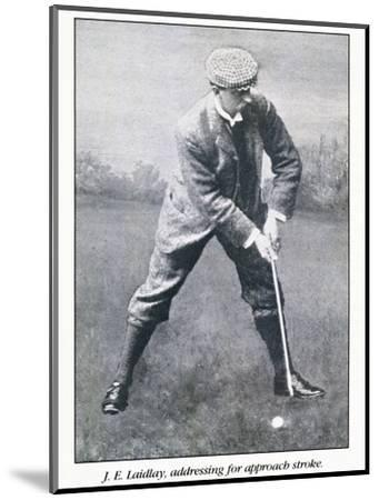 Portrait of golfer JE Laidlay, c1896-Unknown-Mounted Giclee Print