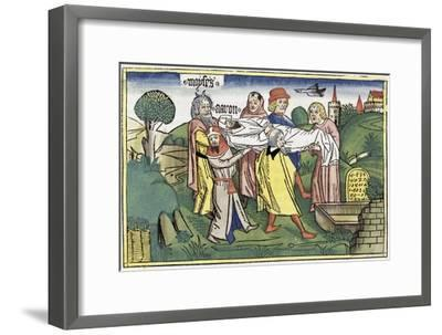 Numbers 20:22-29: the death of Aaron-Unknown-Framed Giclee Print