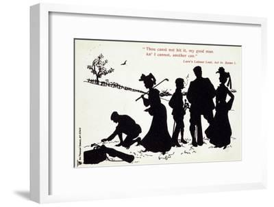 Shakespearian scene on a golf course-Unknown-Framed Giclee Print