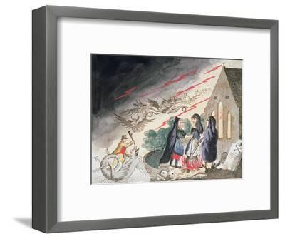 Three witches in a graveyard, c1790s-Unknown-Framed Giclee Print
