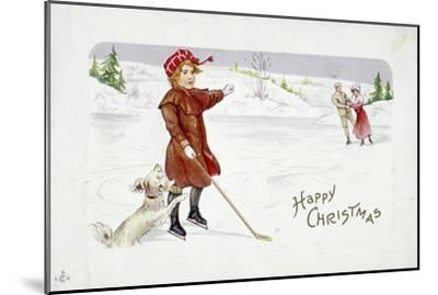 Christmas card with a golfing theme-Unknown-Mounted Giclee Print