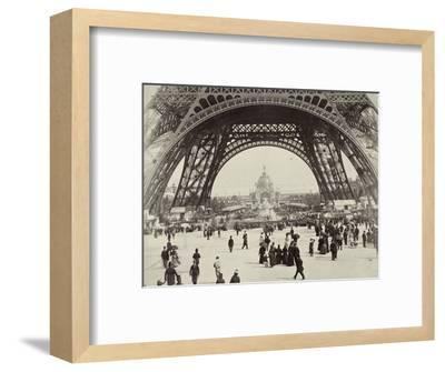 Beneath the Eiffel Tower, Paris, 1889-Unknown-Framed Photographic Print