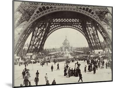 Beneath the Eiffel Tower, Paris, 1889-Unknown-Mounted Photographic Print