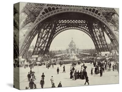 Beneath the Eiffel Tower, Paris, 1889-Unknown-Stretched Canvas Print