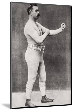 John L Sullivan, American boxer, c1898-Unknown-Mounted Photographic Print
