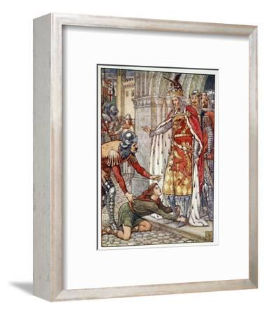 'Young Owen Appeals to the King', 1911-Unknown-Framed Giclee Print