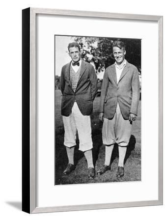 Bobby Jones and fellow golfer, c1920s-Unknown-Framed Giclee Print