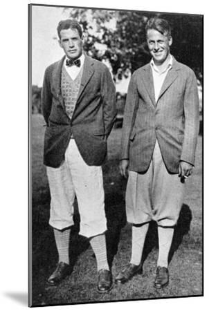 Bobby Jones and fellow golfer, c1920s-Unknown-Mounted Giclee Print