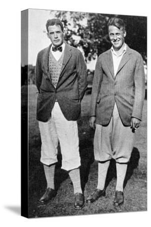 Bobby Jones and fellow golfer, c1920s-Unknown-Stretched Canvas Print
