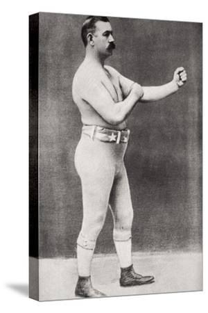 John L Sullivan, American boxer, c1898-Unknown-Stretched Canvas Print