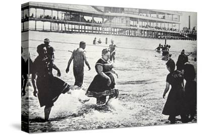 An American seaside resort, USA, c1890-Unknown-Stretched Canvas Print
