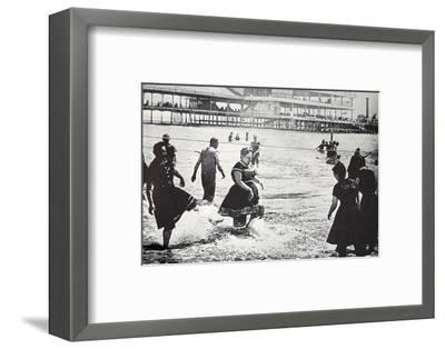 An American seaside resort, USA, c1890-Unknown-Framed Photographic Print
